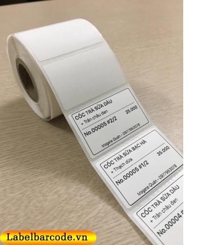 Giấy decal in tem dán giá sản phẩm