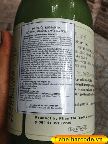 Nội dung in trên tem nhãn phụ sản phẩm