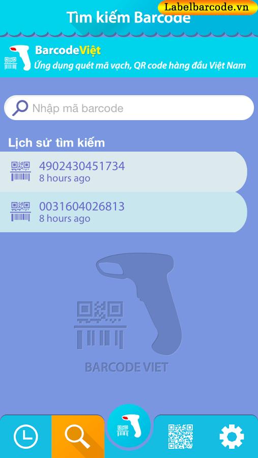 Phần mềm quét mã vạch Barcode Việt