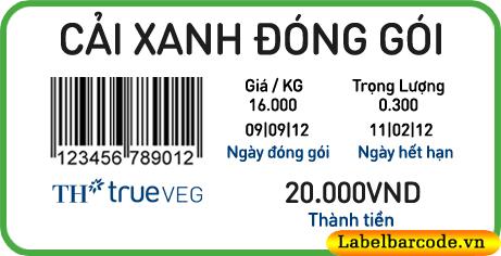 tem dán giá sản phẩm