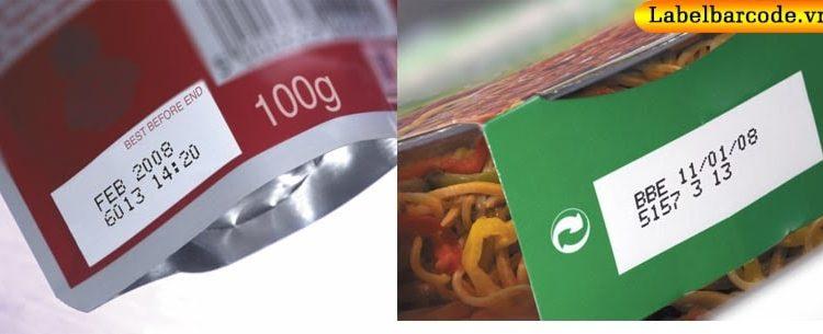 Ứng dụng mực nhiệt in date lên bao bì sản phẩm